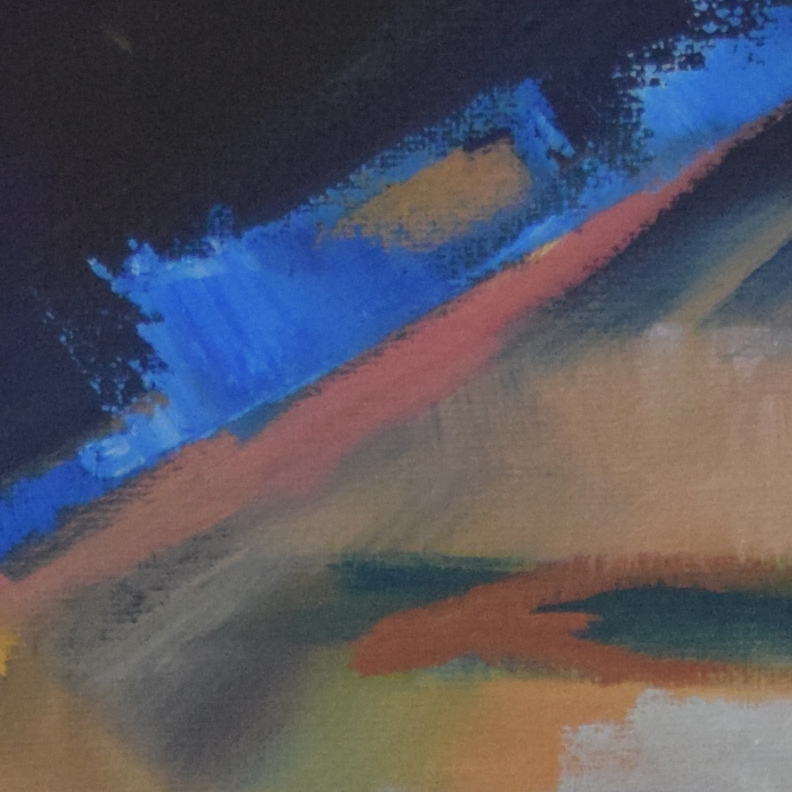 Under the Firelight (detail), Oil on canvas, 2018, by Christopher P Jones