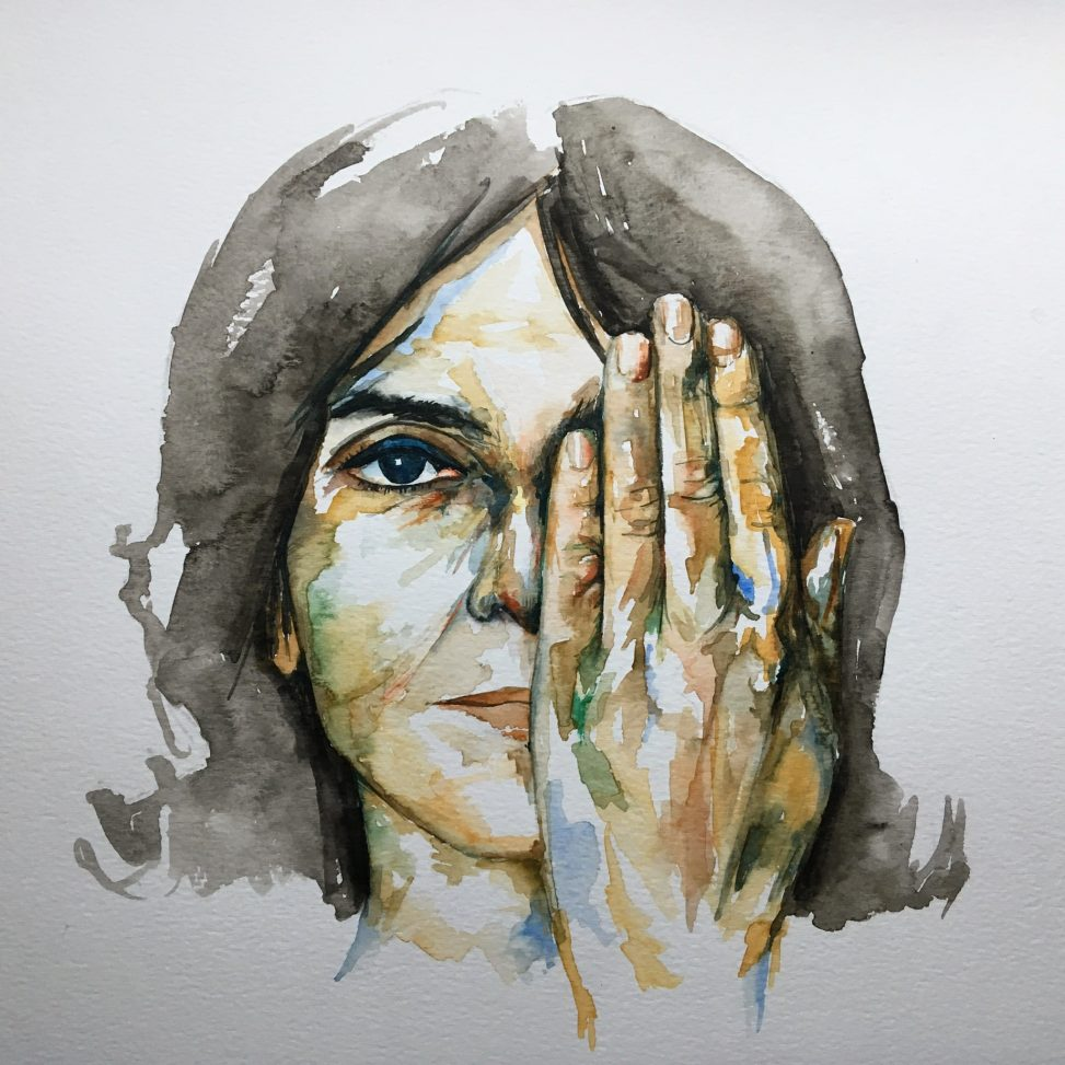One Of Us Cannot Be Wrong, Watercolour, 2018, By Christopher P Jones