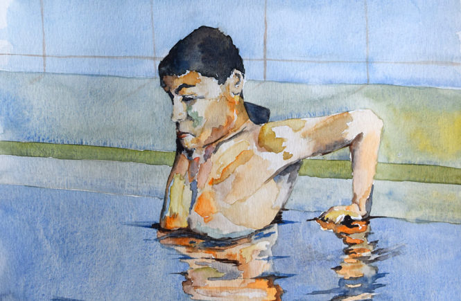 Swim (watercolour)